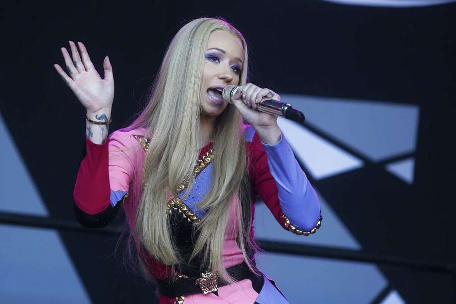 In this Oct. 4, 2014 photo, Iggy Azalea performs at the Austin City Limits Music Festival in Austin, Texas. Azalea, from Australia, is the lead nominee at Sunday's American Music Awards. Photo: Photo By Jack Plunkett/Invision/AP, File  / Invision