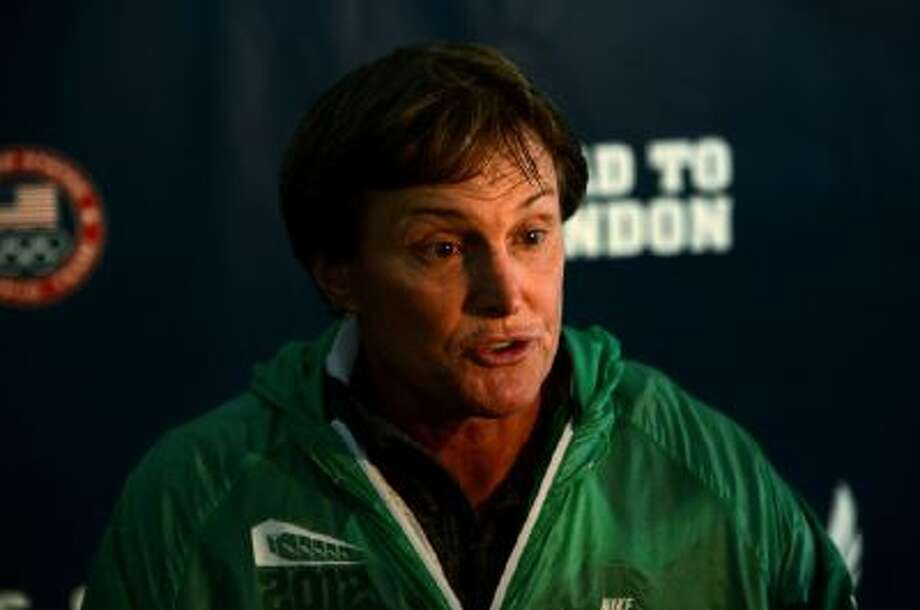 Former Olympian Bruce Jenner speaks to the media during Day One of the 2012 U.S. Olympic Track & Field Team Trials at Hayward Field on June 22, 2012 in Eugene, Oregon.