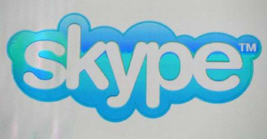 A Skype logo is shown on a screen at an Intel Corp. press event at the Mandalay Bay Convention Center for the 2014 International CES on January 6, 2014 in Las Vegas, Nevada.