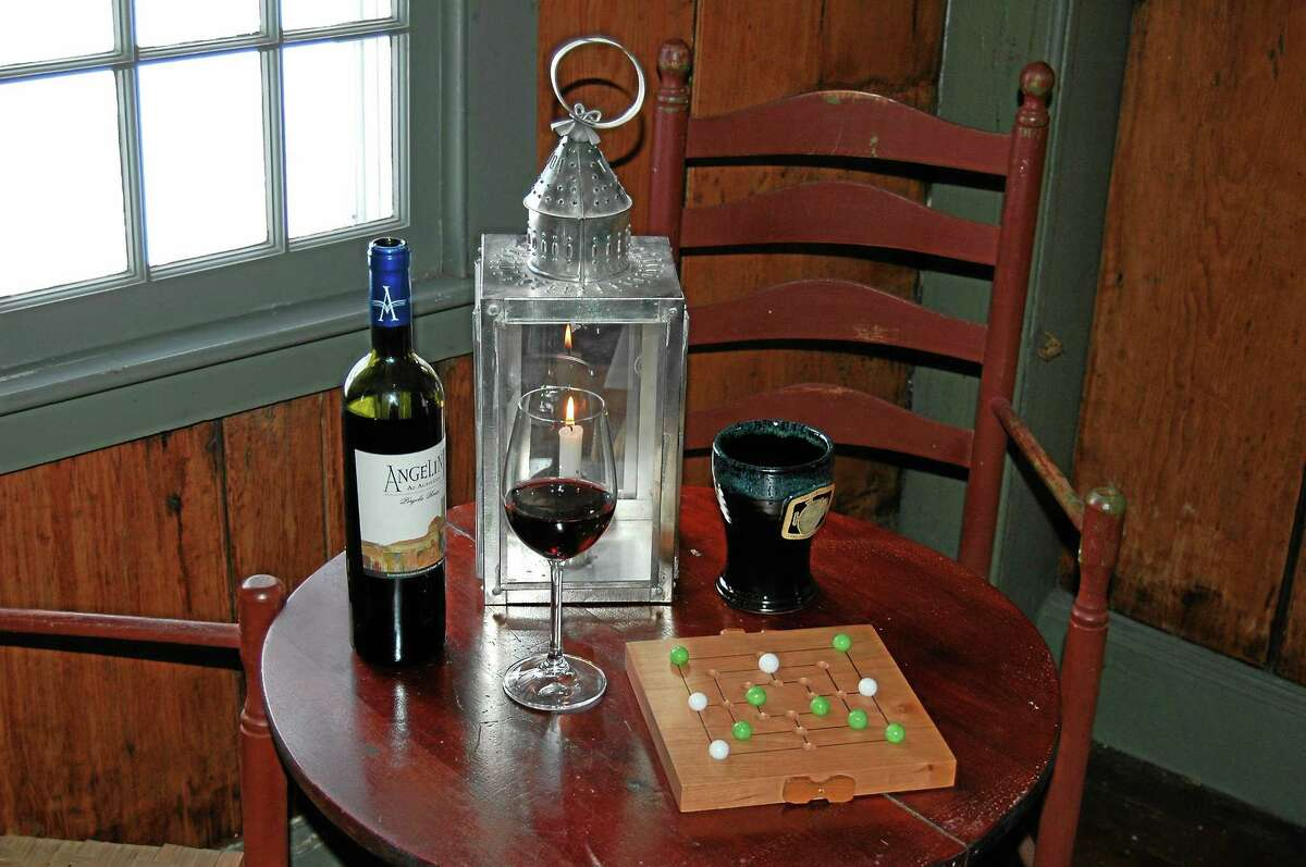 Photo courtesy of Connecticut River Museum. The Connecticut River Museum's 1814 Tavern Night features an evening of food, drink, music and games in the Museum's historic Samuel Lay House.