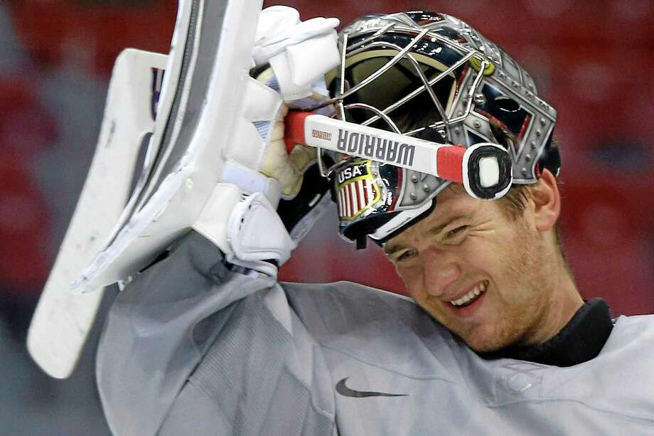 Hamden's Jonathan Quick will get the start in goal for the United States' Olympic opener against Slovakia on Thursday in Sochi, Russia. Photo: Julie Jacobson — The Associated Press  / AP