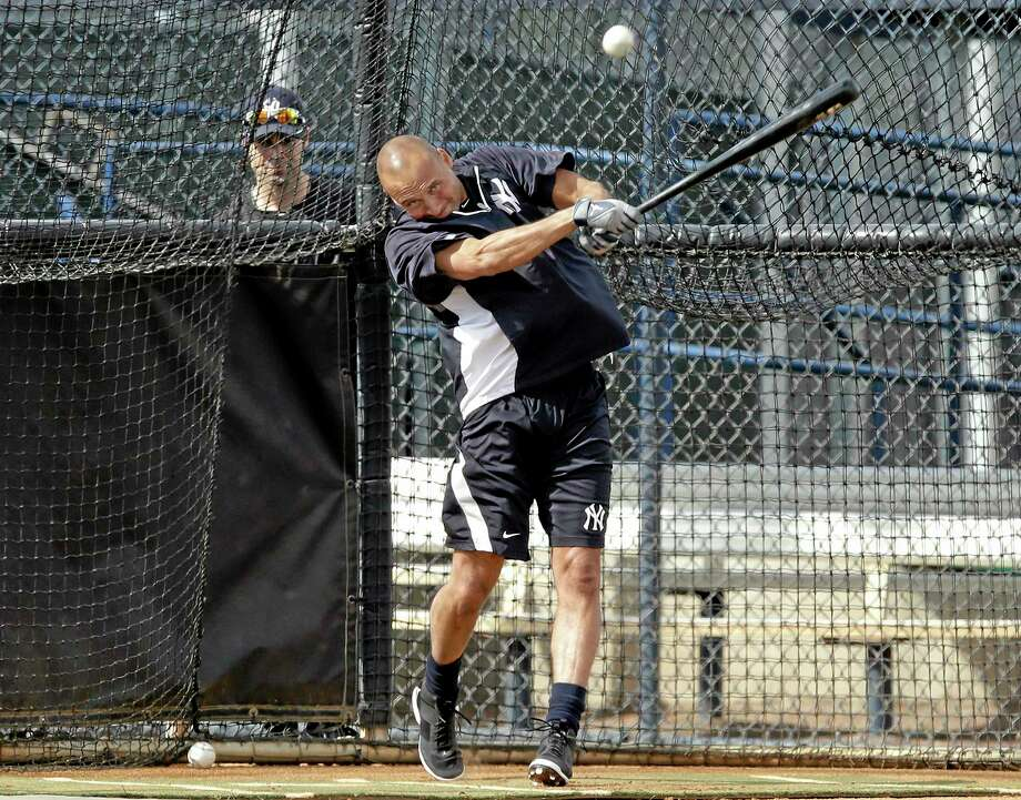 New York Yankees shortstop Derek Jeter takes batting practice at the team's minor league facility on Wednesday in Tampa, Fla. Jeter announced on Wednesday that 2014 would be his final season. Photo: Chris O'Meara — The Associated Press  / AP