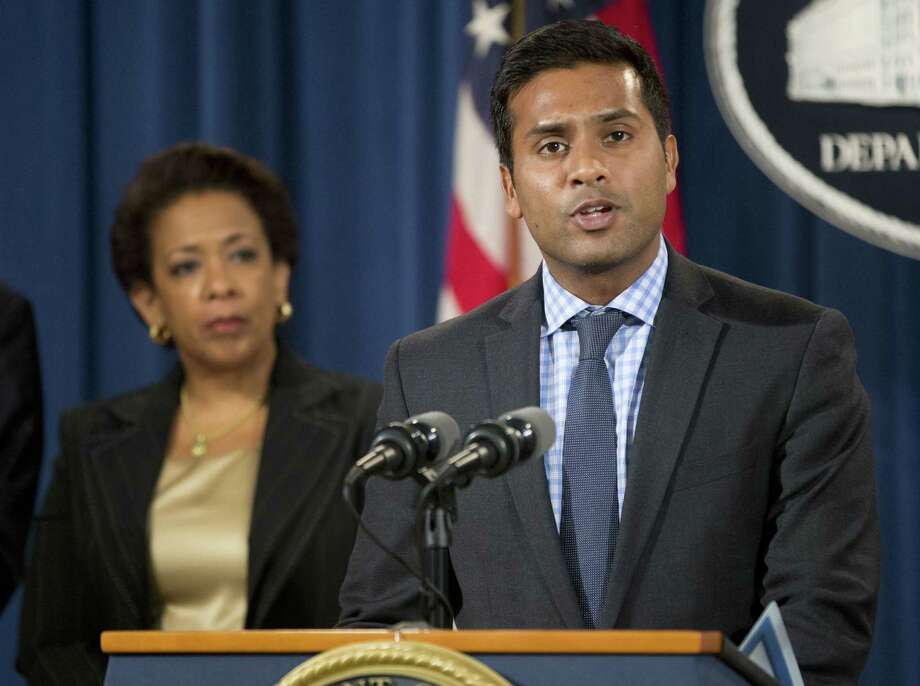 In this June 18, 2015, photo, Shantanu Agrawal, deputy administrator for program integrity and director of the center for program integrity at the Centers for Medicare & Medicaid Services, speaks during a news conference at the Justice Department in Washington. Photo: AP Photo/Pablo Martinez Monsivais / AP