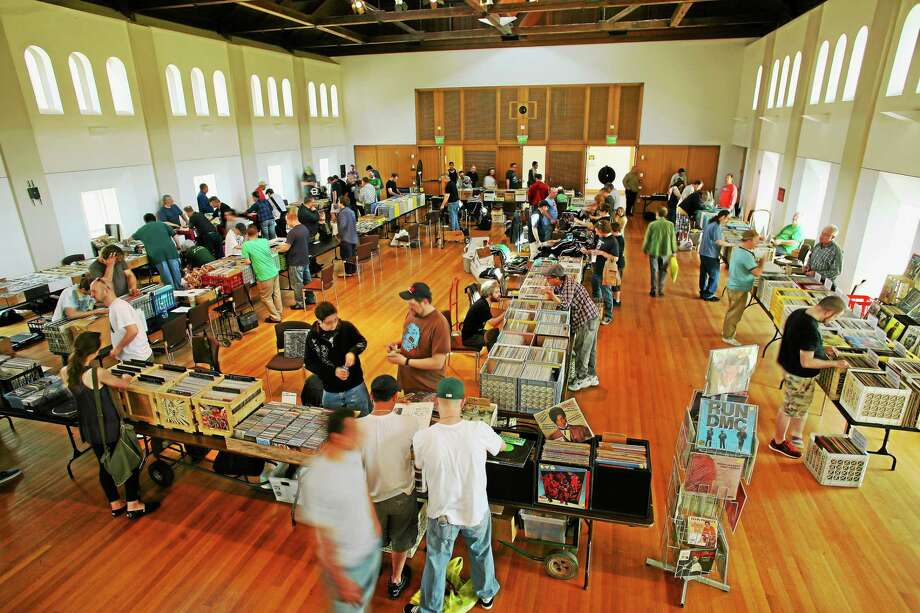 WESU's spring record fair offers new and used CDs, records, music-related apparel, books, apparel, WESU merchandise and more. Photo: Photo Courtesy David Bauer