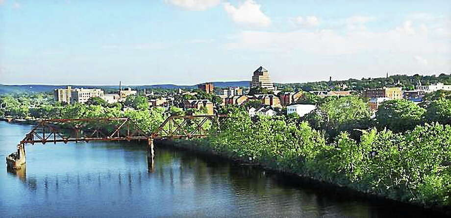 A view of Middletown from atop the Arrigoni Bridge Photo: File