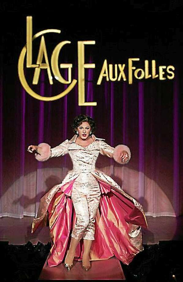Photo by Diane Sobolewski Jamison Stern plays the role of Albin in Goodspeed Musicals' ìLa Cage Aux Folles.î Photo: Journal Register Co.