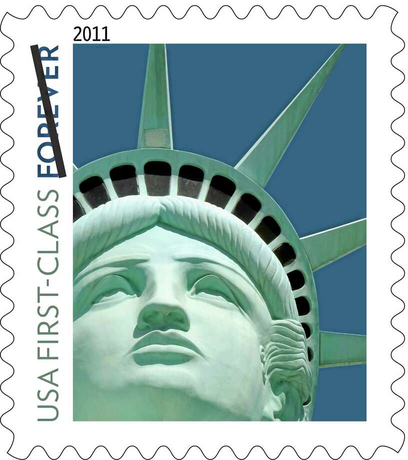 U.S. Postal Service shows the Lady Liberty first-class postage stamp first issued in 2011. Photo: File Photo  / U.S. Postal Service