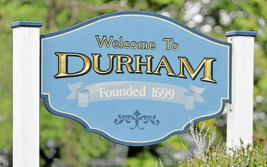 Durham sign. Catherine Avalone - The Middletown Press Photo: Journal Register Co. / TheMiddletownPress