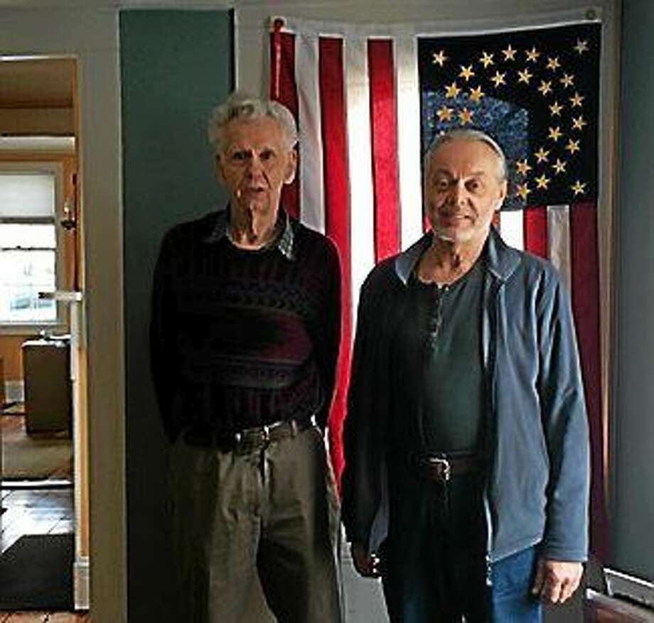 Volunteer David Manfredi, right, was the driver that helped Charles Clark to undergo eye surgery. Clark and his wife have also used services of St. Lukeís Friendly Grocery Shopper program. Photo: Photo Courtesy St. Luke's Community Services