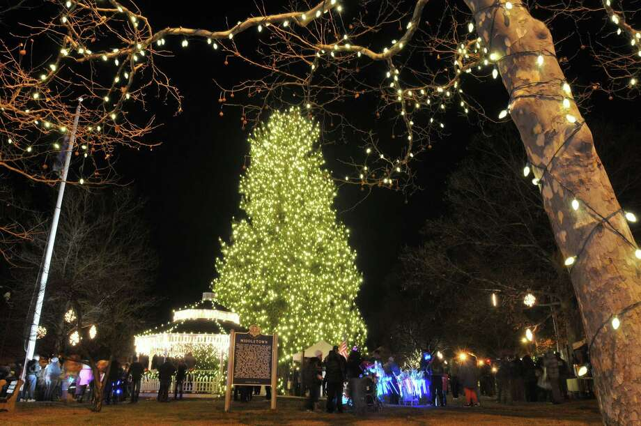 Middletown's South Green is alive with lights following the tree lighting that capped the 28th annual Holiday on Main Friday evening. Catherine Avalone - The Middletown Press Photo: Journal Register Co. / TheMiddletownPress