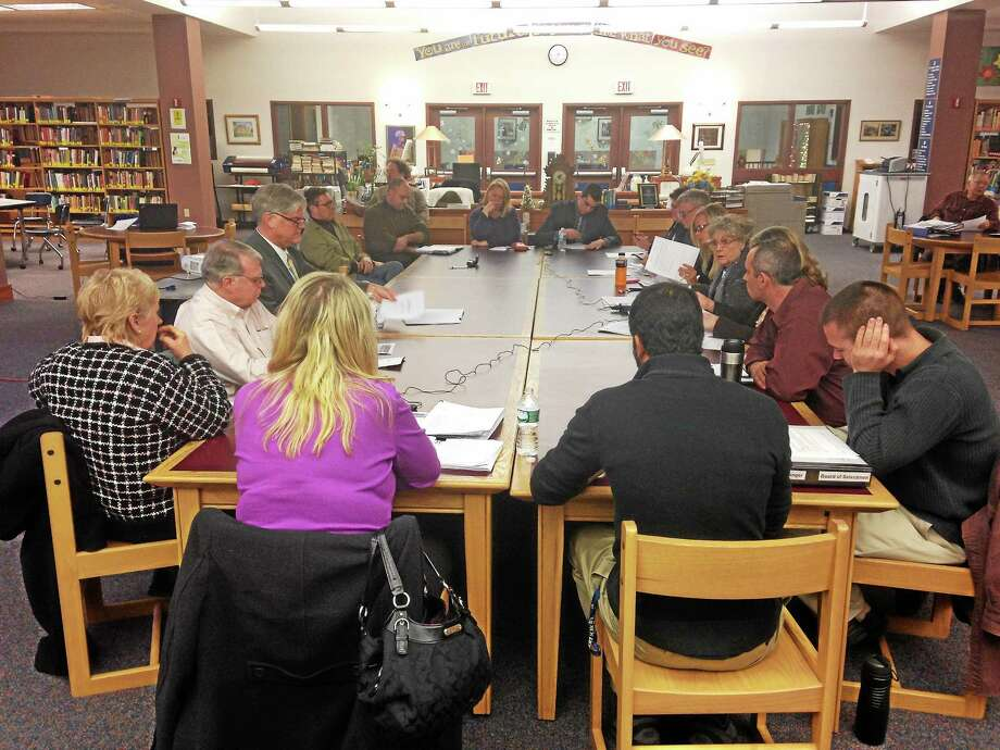 Register Citizen file photo Members of area school boards and selectmen meet in this file photo. Photo: Journal Register Co.