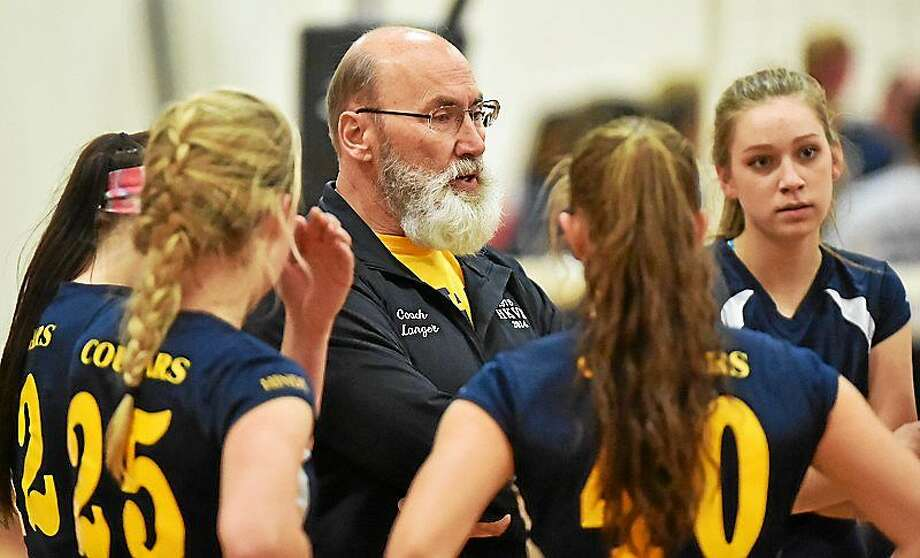 """Haddam-Killingworth volleyball coach Rich Langer will be inducted into the Connecticut Women's Volleyball Hall of Fame on Nov. 25 at the AquaTurf Club in Plantsville. Photo: Catherine Avalone — Register  / """"New Haven RegisterThe Middletown Press"""""""