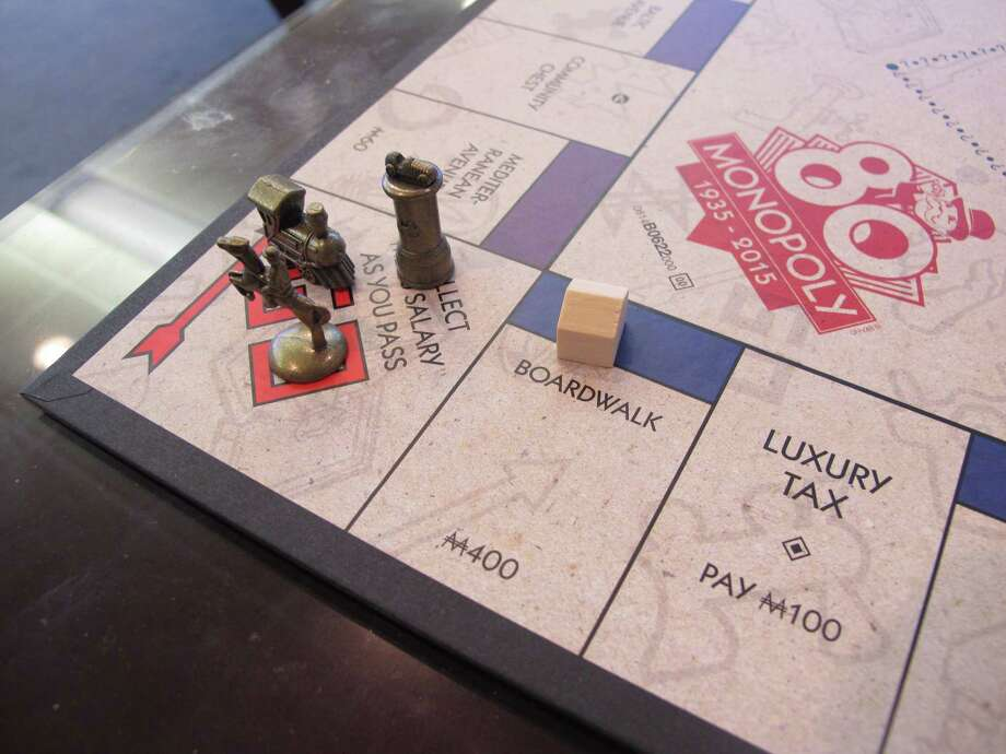 A Monopoly board in Atlantic City, N.J. — the city on whose real-life streets the Monopoly board game is based. Photo: Wayne Parry — The Associated Press  / AP