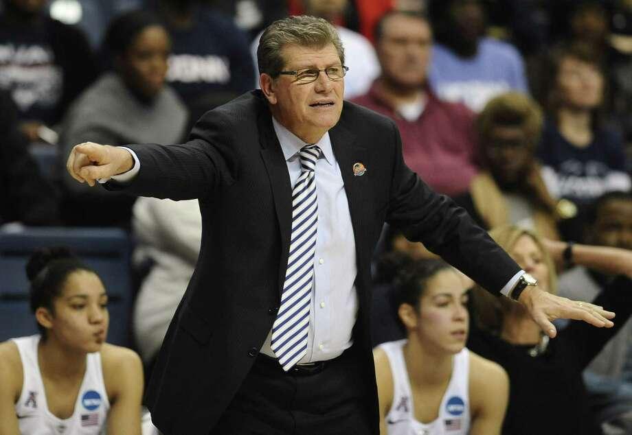 UConn coach Geno Auriemma. Photo: The Associated Press  / FR125654 AP