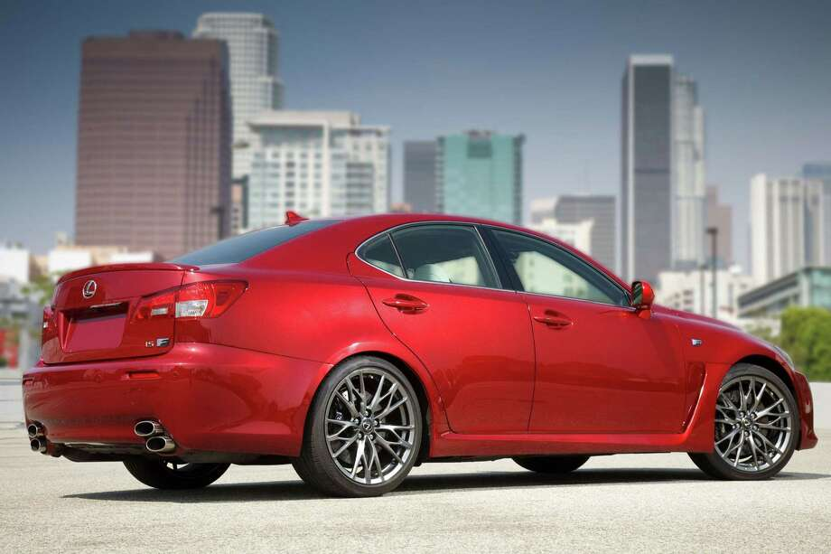 FILE - This undated picture made available by Toyota shows the 2011 Lexus IS F.  Toyota is recalling nearly 423,000 Lexus luxury brand cars in the U.S. to fix fuel leaks that can cause fires. The recalls affect the 2006 to 2011 GS, 2007 to 2010 LS and the 2006 to 2011 IS models. Toyota says the carsí fuel lines have nickel phosphate plating to protect against corrosion. Some lines could have been built with particles coming in contact with a gasket. That can cause the sealing property to deteriorate and trigger fuel leaks. Toyota says itís not aware of any fires or injuries caused by the problem.(AP Photo/Toyota) Photo: AP / Toyota