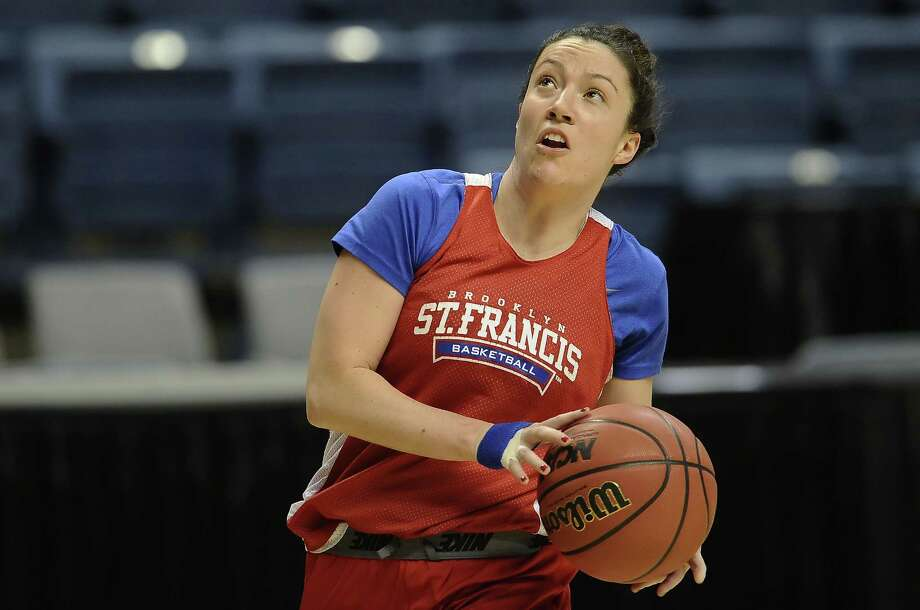 Eilidh Simpson and St. Francis took on UConn late Saturday night. Photo: Jessica Hill — The Associated Press  / FR125654 AP