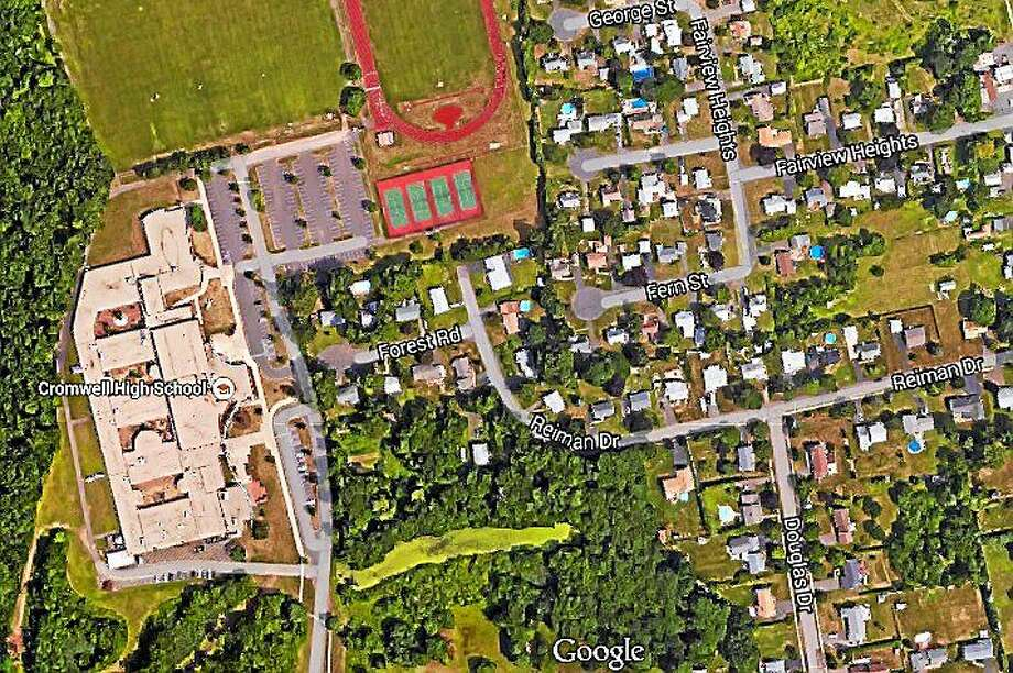 Cromwell residents expressed vocal opposition in the spring to Gilead Community Service's proposal to place a group home in a residential area near schools. Photo: Google Earth ¬