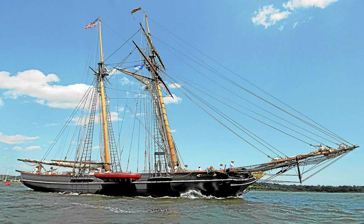 The Amistad departs New Haven, Conn., in this June 21, 2007 photo. The freedom schooner Amistad is a near-replica of the ship that sparked a slave revolt.