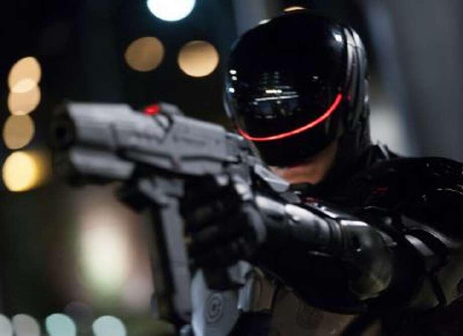 Robocop (Joel Kinnaman) in 'RoboCop.'