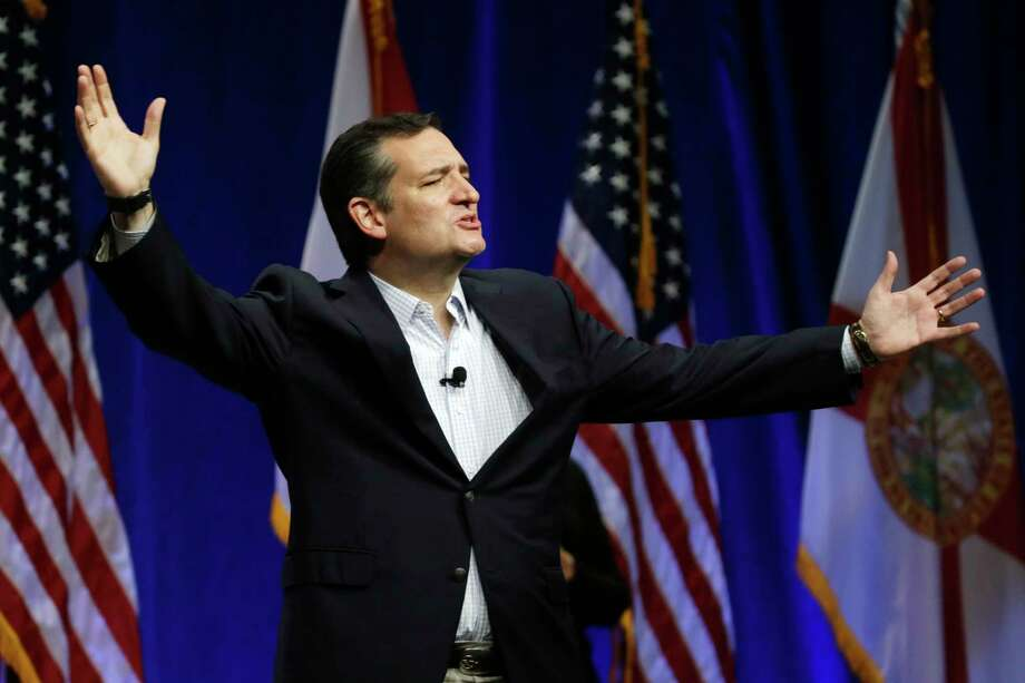 Republican presidential candidate Sen. Ted Cruz, R-Texas, gestures while addressing the Sunshine Summit in Orlando, Fla. Photo: AP Photo  / AP