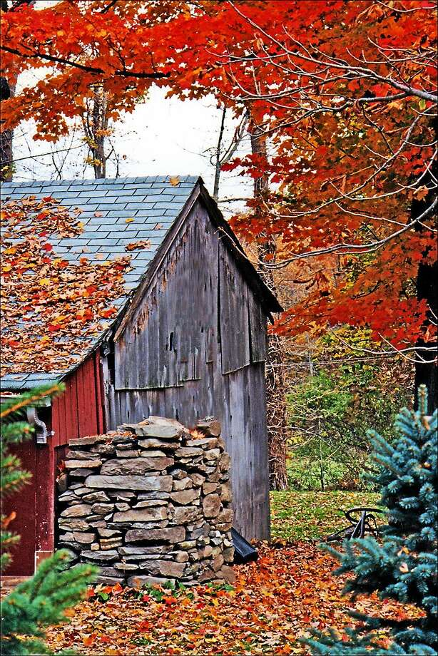 "Image courtesy of the artist Carol Dunn, ""Autumn Barn"" is included in the latest show at Six Summit Gallery in Ivoryton. Photo: Journal Register Co."