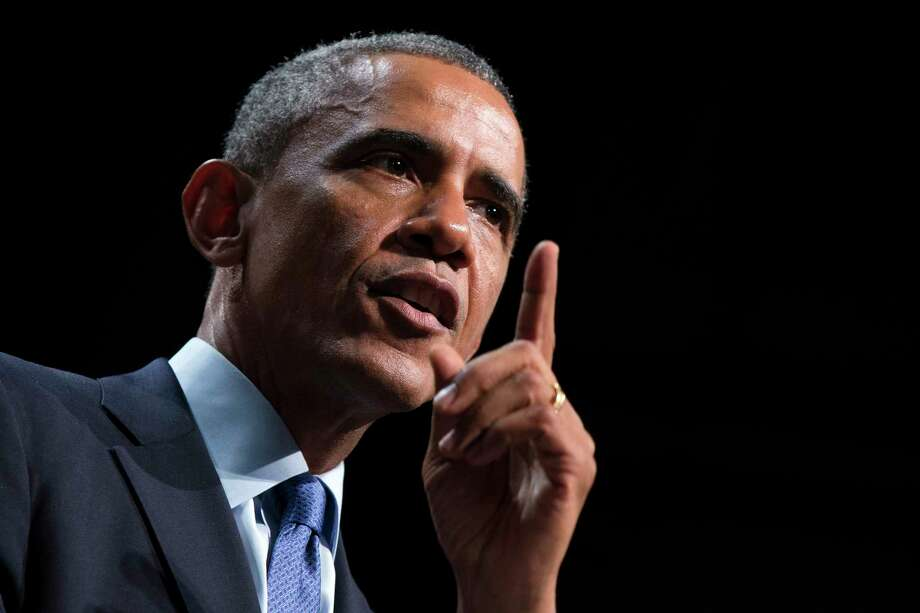 File - President Barack Obama speaks about the economy, Thursday, Oct. 2, 2014, at Northwestern University in Evanston, Ill. Photo: (Evan Vucci — The Associated Press) / AP