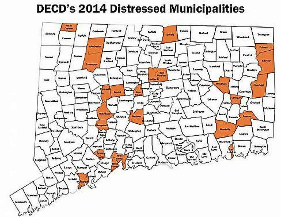 2014 distressed municipalities. Photo: CTNewsJunkie.com
