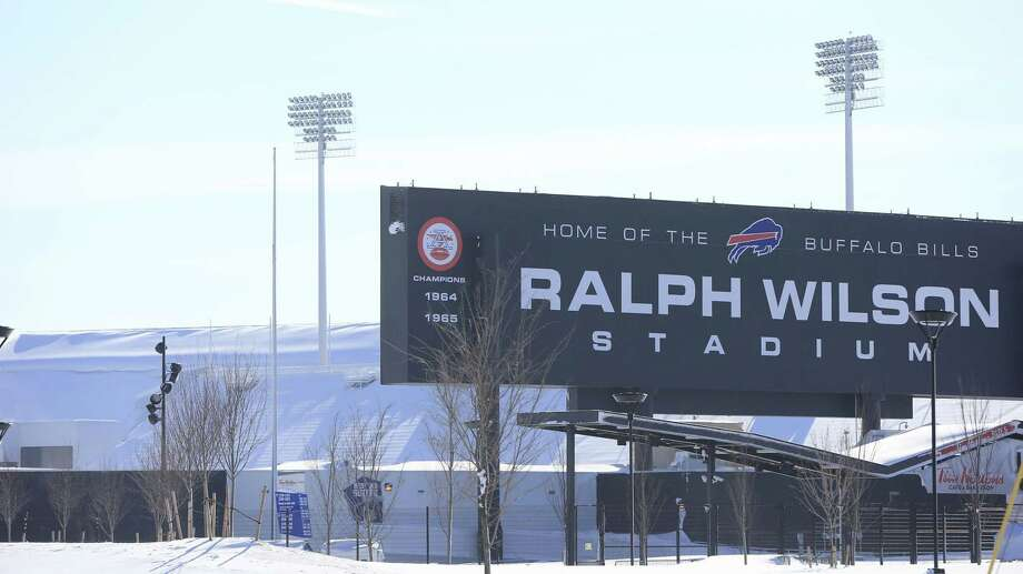 Snow covers around Ralph Wilson Stadium, home of the Buffalo Bills, in Orchard Park, N.Y. A ferocious lake-effect storm left the Buffalo area buried under 6 feet of snow Wednesday, trapping people on highways and in homes, and another storm expected to drop 2 to 3 feet more was on its way. Photo: Harry Scull Jr. — The Buffalo News  / The Buffalo News