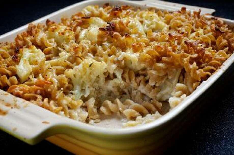 Gratins are the ideal winter comfort food. Cauliflower-Pasta Gratin.