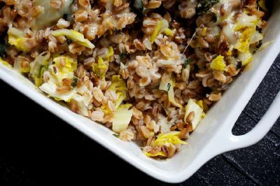 Savoy Cabbage and Farro Gratin With Fontina. Savoy cabbage, with its ruffled leaves, is especially nice here because of its pretty appearance and succulent texture.