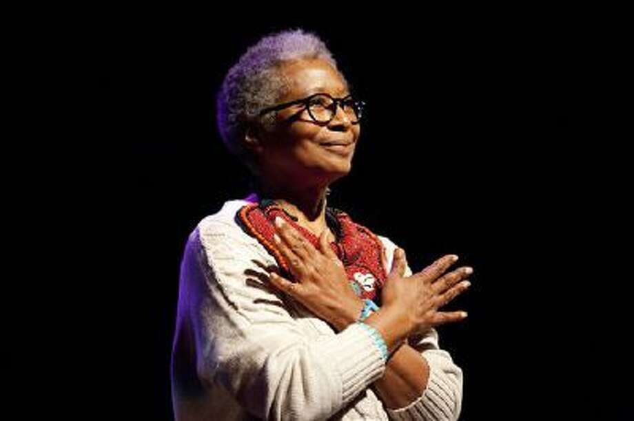 "Alice Walker is shown at the London premiere of American Masters ""Alice Walker: Beauty In Truth,"" in London. PBS will commemorate Black History Month with programs including a profile of ""The Color Purple"" author Walker. Photo: AP / PBS"