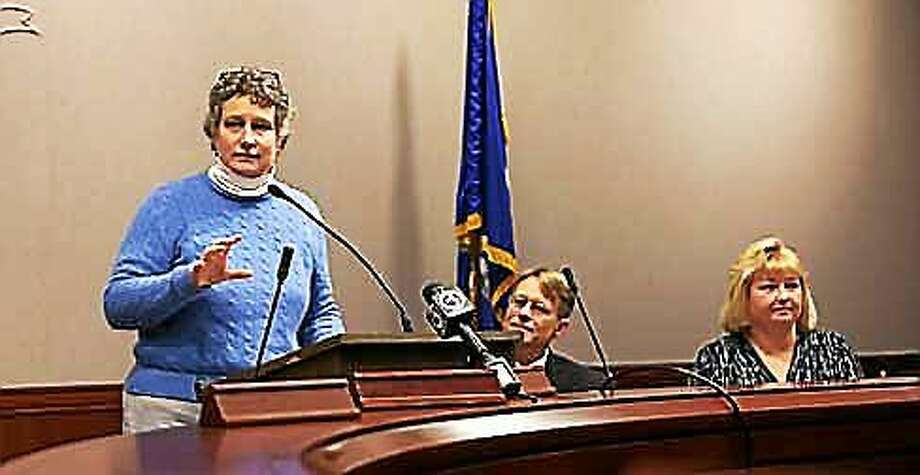 From left, state Sen. Beth Bye, Merrill Gay and Karen Rainville Photo: Christine Stuart/CT News Junkie