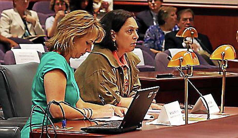 DCF Commissioner Joette Katz and Kristina Stevens. Photo: Christine Stuart — CTNewsJunkie.com