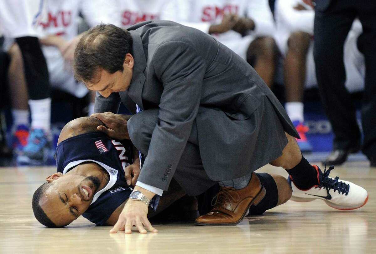 UConn senior Ryan Boatright is questionable for tonight's first-round NIT game against Arizona State with a shoulder injury.