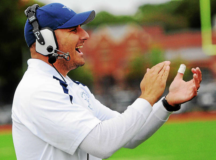 Nick D'Angelo, shown last year as a Hillhouse assistant coach, resigned this week as the head football coach at Coginchaug after eight games. Photo: Photo By Peter Hvizdak — New Haven Register