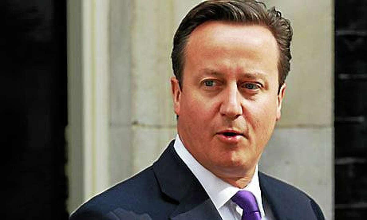 David Cameron -- AP photo