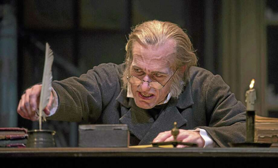 "Students who make up the Middletown High School Drama Club are rehearsing for performances next week featuring Charles Dickens' classic tale, ""A Christmas Carol."" Shown in this file photo is the miser Ebenezer Scrooge. Photo: File Photo  / Goodman Theatre"
