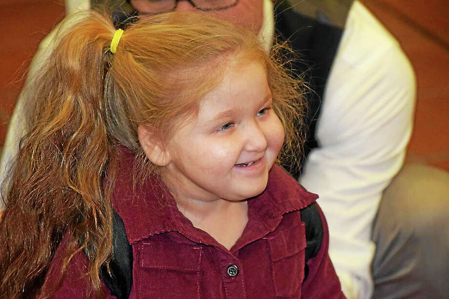 Colella's granddaughter Teagan, 4 Photo: Jeff Mill — The Middletown Press