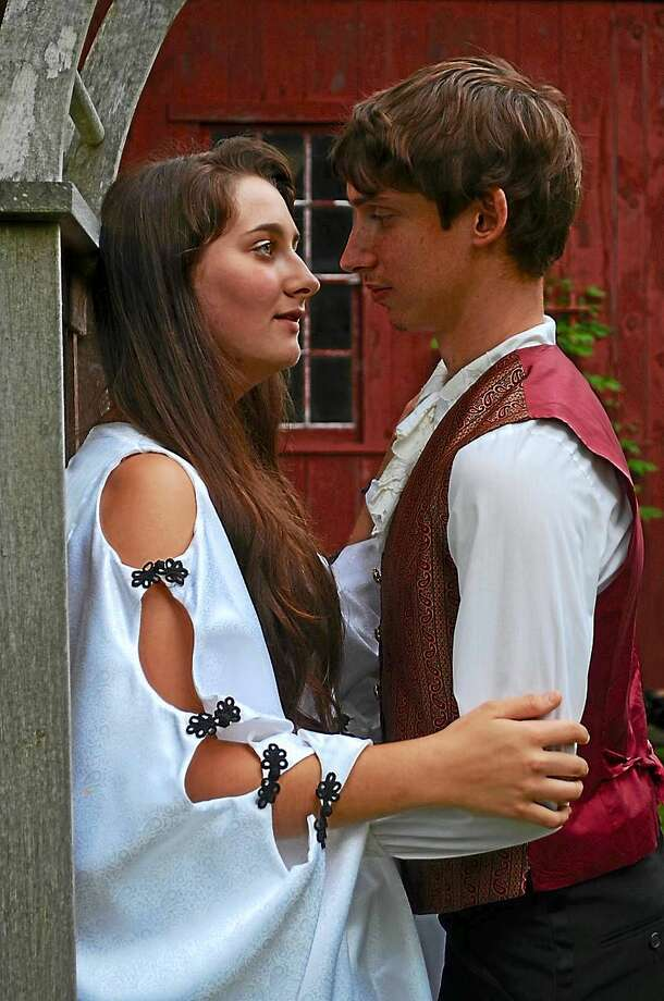 Contributed photos  Martin McBride as Romeo and Dani Brown as Juliet, members of the Saturday evening cast of ìRomeo and Julietî being performed in Clinton by the Shoreline Arts Collective. Photo: Journal Register Co.