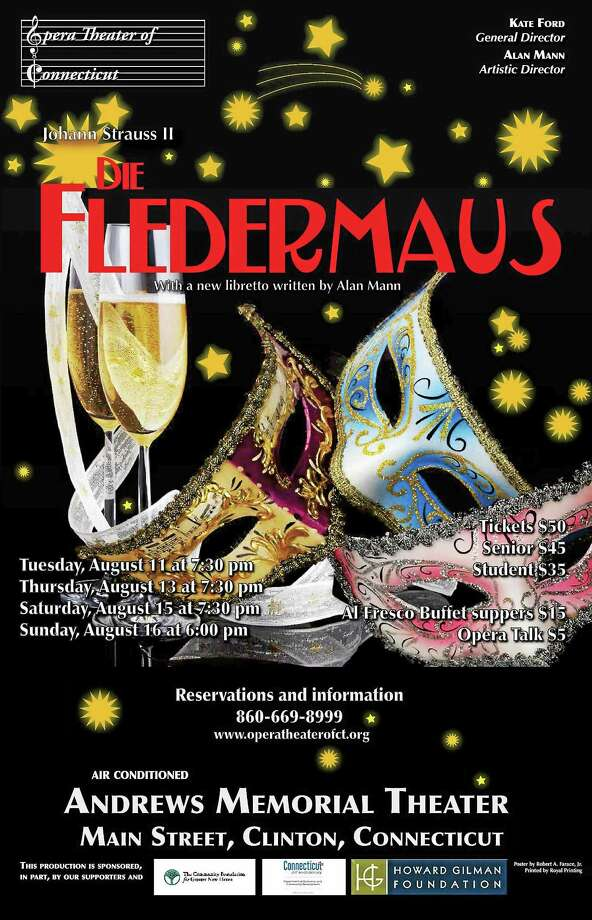 "Contributed photo ""Die Fledermaus"" will be presented by Opera Theater of COnnecticut in August. Photo: Journal Register Co."