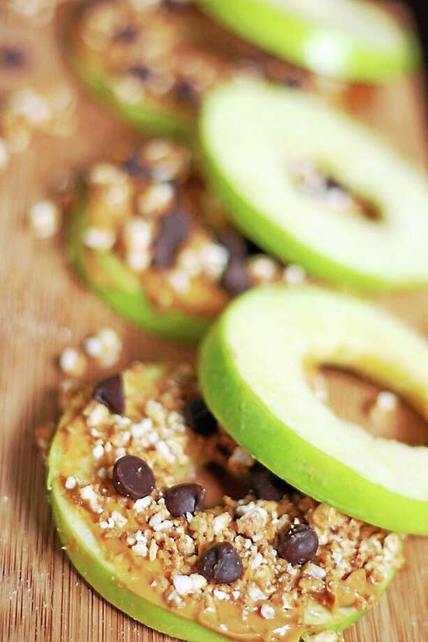 Create your own lunchtime masterpiece using any variety of nut butters, such as cashew, almond, pistachio or pecan, to create these apple sandwiches. Blend your own spread to make these even more special. Photo: Courtesy I.O.N. Restaurant
