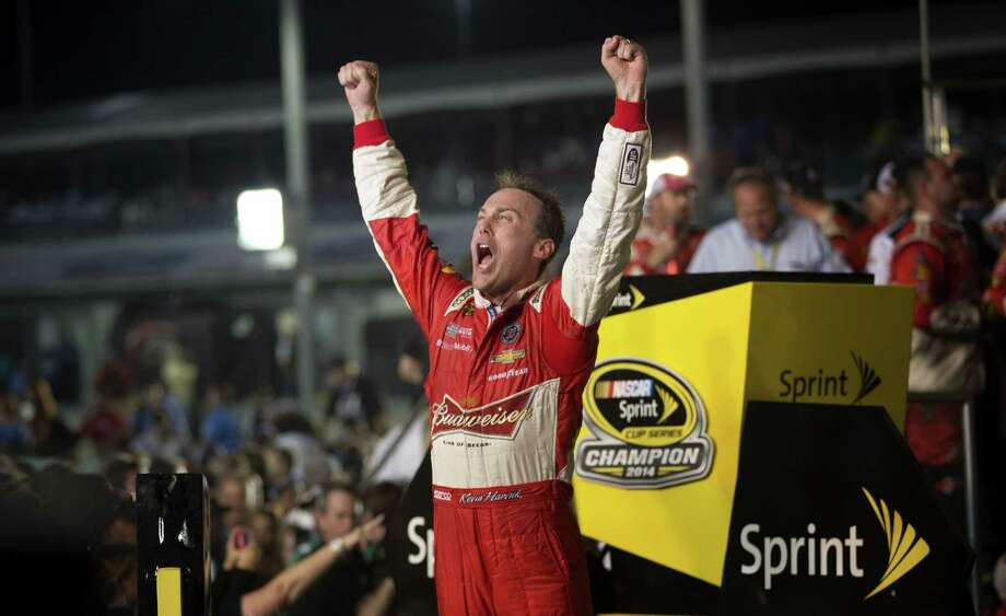Kevin Harvick celebrates after winning the NASCAR Sprint Cup championship series race in Homestead, Fla. on Sunday. Photo: J. Pat Carter — The Associated Press  / AP