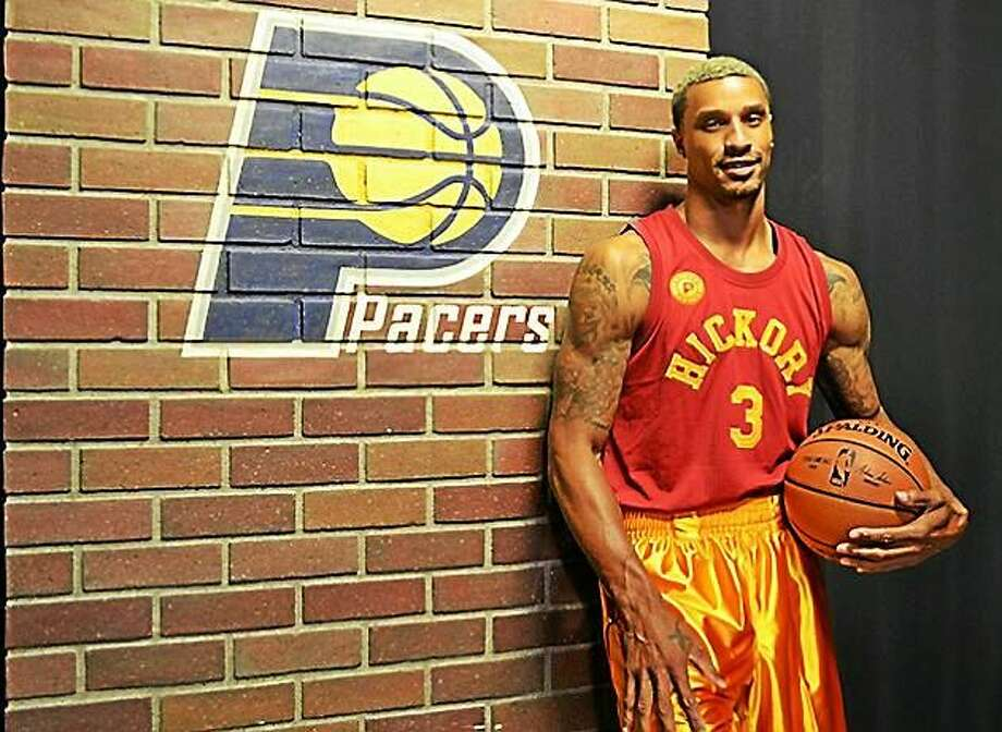"The Indiana Pacers tweeted out their new ""Hoosiers"" jerseys that will be worn in some games during the 2015-16 NBA season on Tuesday. Photo: Journal Register Co."