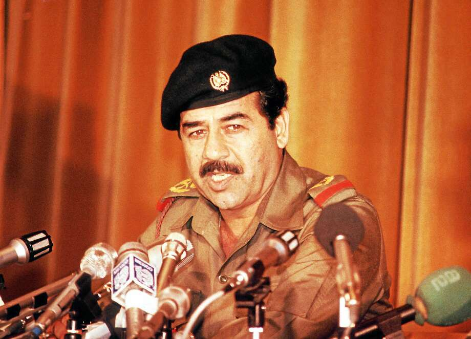 A Nov. 2, 1980 photo of deceased Iraqi President Saddam Hussein. (AP Photo) Photo: AP / 1980 AP
