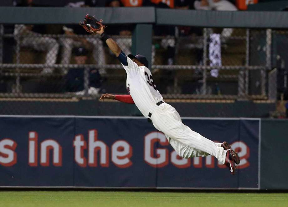 The New York Yankees acquired Minnesota Twins outfielder Aaron Hicks for catcher John Ryan Murphy. Photo: Jim Mone — The Associated Press File Photo  / AP