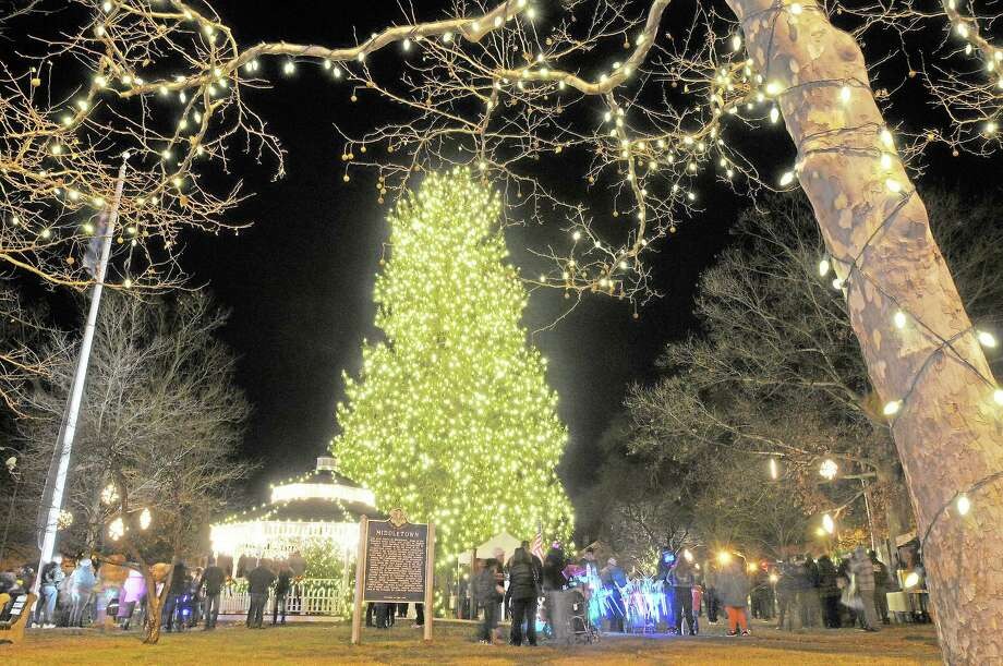 Middletown's South Green is alive with lights following the tree lighting that capped the 28th annual Holiday on Main Friday evening. Catherine Avalone - The Middletown Press Photo: Catherine Avalone -- Middletown Press File Photo / TheMiddletownPress