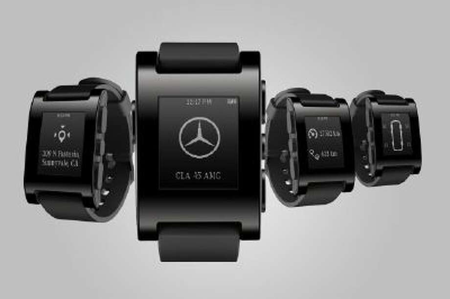 Mercedes is already experimenting with integrating devices like the Pebble smartwatch with its in-car systems.
