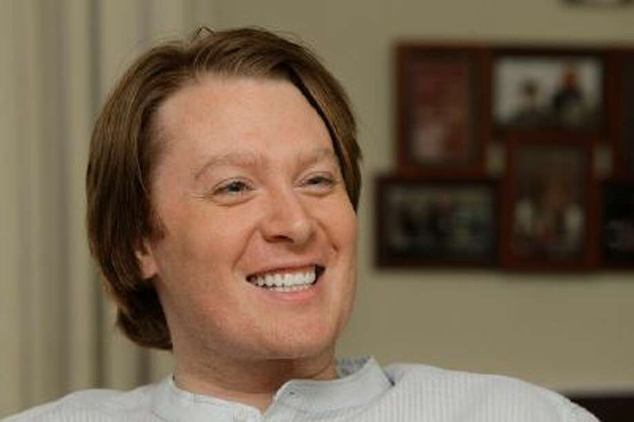 Clay Aiken is seen during an interview in Raleigh, N.C.