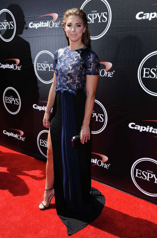 U.S. soccer player Alex Morgan arrives at the ESPY Awards this year. Photo: The Associated Press File Photo  / Invision