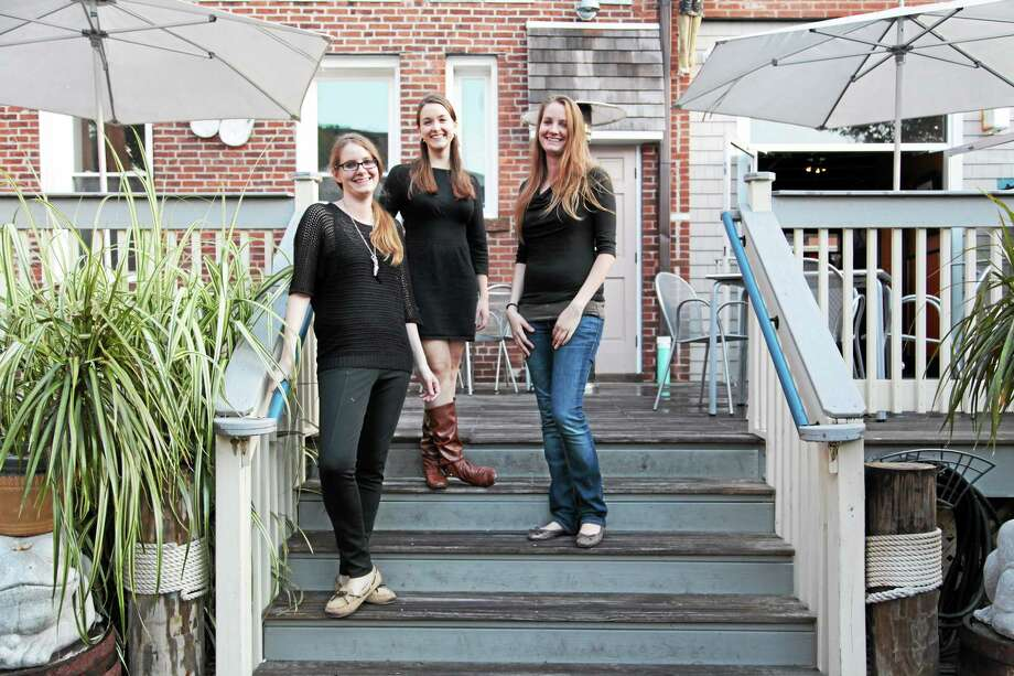 Submitted photo. Deep River natives and twin sisters Krystyna and Karla Ciaglo joined forces with their friend, Marisa Barr, to start KMK Creatives in 2011, a personal chef company. Photo: Journal Register Co.